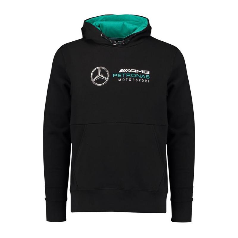 4fa79925a0 Mercedes AMG Petronas pánska mikina s kapucňou black F1 2018 - FAN ...