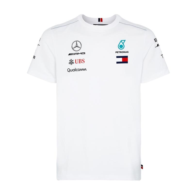 4c8ee65fa508 Mercedes AMG Petronas pánske tričko white F1 Team 2018 - FAN-store.sk