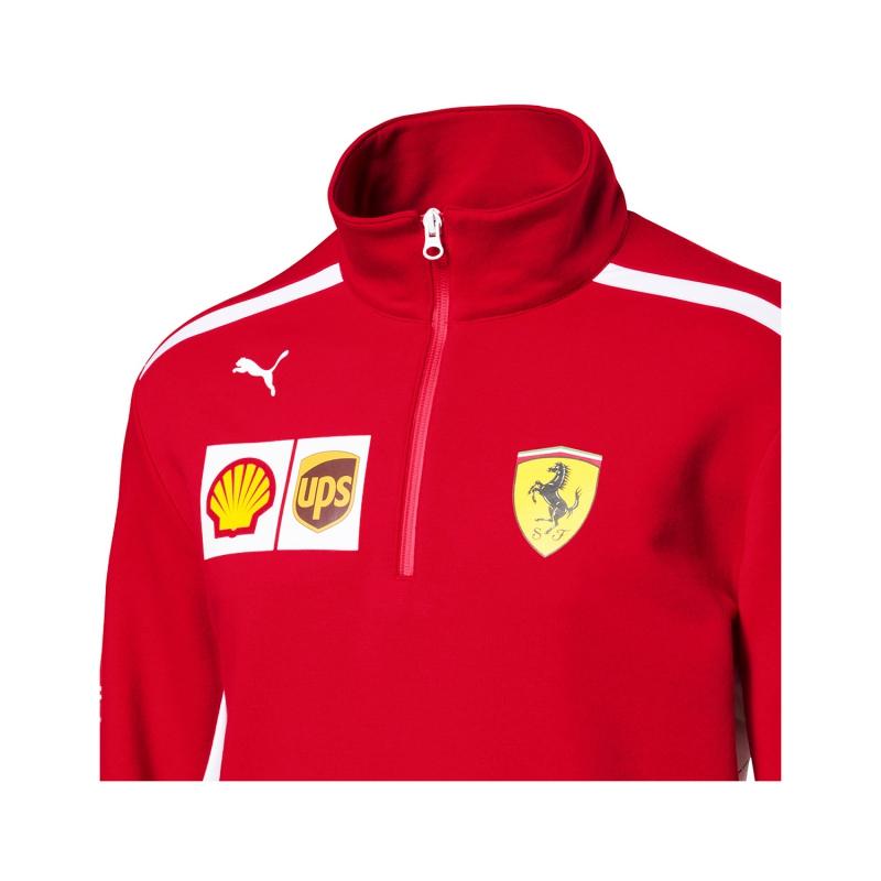 e3ccec2f39 Puma Ferrari pánska mikina Half Zip red F1 Team 2018 - FAN-store.sk