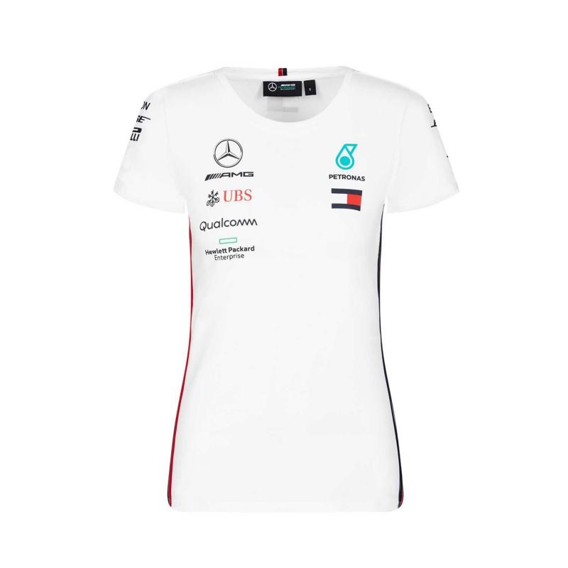 a6ab49b90a78 Mercedes AMG Petronas dámske tričko white F1 Team 2019 - FAN-store.sk