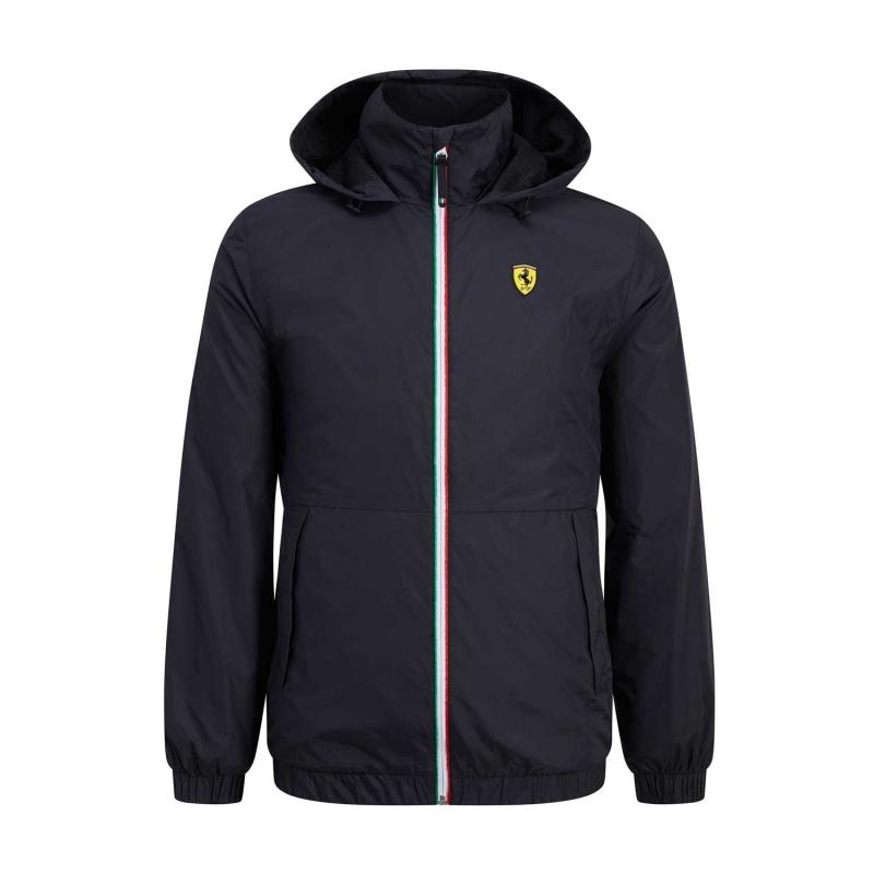 84ea430d10 Ferrari pánska bunda s kapucňou black Windbreaker F1 Team 2019 - FAN ...