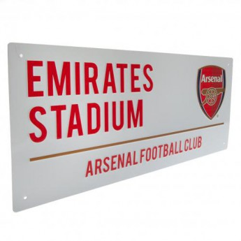 FC Arsenal ceduľa na stenu Street Sign