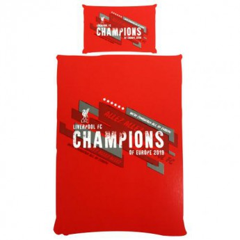 FC Liverpool obliečky na jednu posteľ Champions of Europe Single Duvet Set
