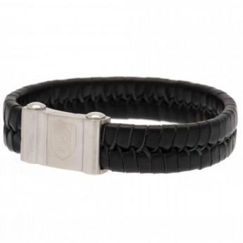 Fulham kožený náramok Plait Leather Bracelet