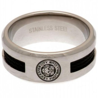 Leicester City prsteň Black Inlay Ring Small