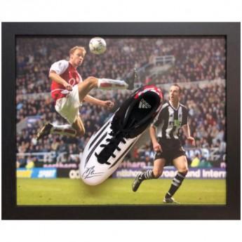 Legendy zarámované kopačky Arsenal FC Bergkamp Signed Boot (Framed)