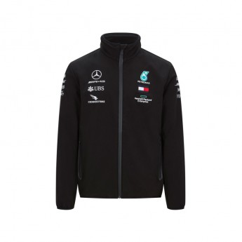 Mercedes AMG Petronas pánska bunda softshell black F1 Team 2020