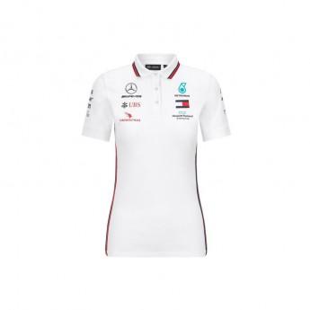 Mercedes AMG Petronas dámske polo tričko white F1 Team 2020