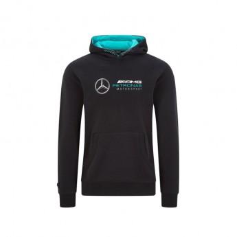 Mercedes AMG Petronas pánska mikina s kapucňou logo hooded black F1 Team 2020