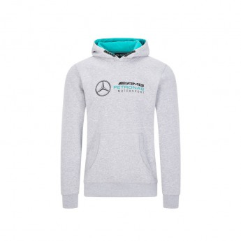 Mercedes AMG Petronas pánska mikina s kapucňou logo hooded grey F1 Team 2020