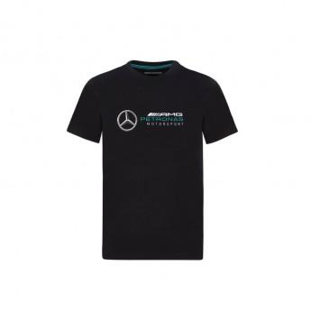Mercedes AMG Petronas detské tričko logo black F1 Team 2020