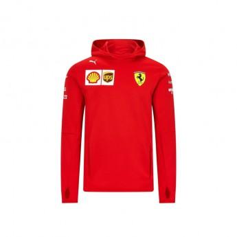Ferrari pánska mikina s kapucňou tech red F1 Team 2020