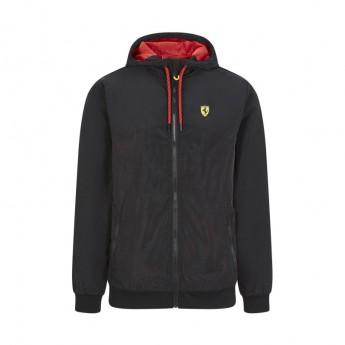 Ferrari pánska bunda s kapucňou Windbreaker black F1 Team 2020