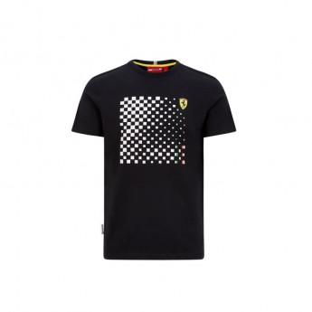 Ferrari pánske tričko checkered black F1 Team 2020