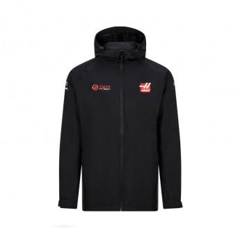 Haas F1 pánska bunda s kapucňou rain black F1 Team 2020