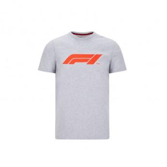 Formule 1 pánske tričko logo grey 2020