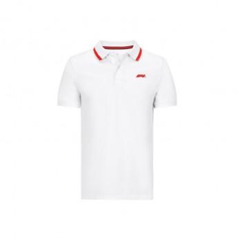 Formule 1 polokošeľa white Logo 2020
