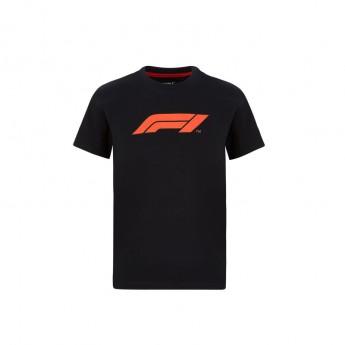 Formule 1 detské tričko logo black 2020