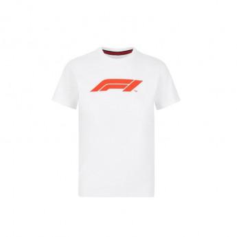 Formule 1 detské tričko logo white 2020