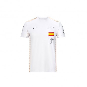 Mclaren Honda pánske tričko Carlos Sainz white F1 Team 2020