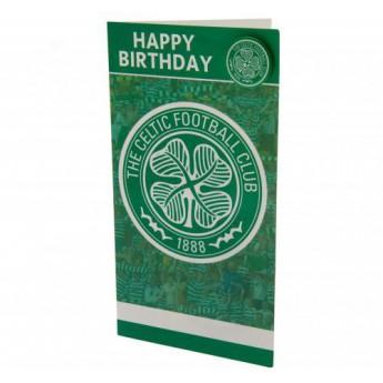 FC Celtic narodeninové želanie Birthday Card & Badge