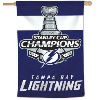 Tampa Bay Lightning vlajka 2020 Stanley Cup Champions 28 x 40 Single-Sided Vertical Banner