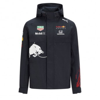 Red Bull Racing pánska bunda s kapucňou Teamwear Rain F1 Team 2021