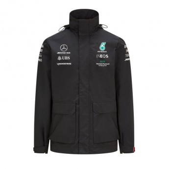 Mercedes AMG Petronas pánska bunda s kapucňou Rain Black F1 Team 2021