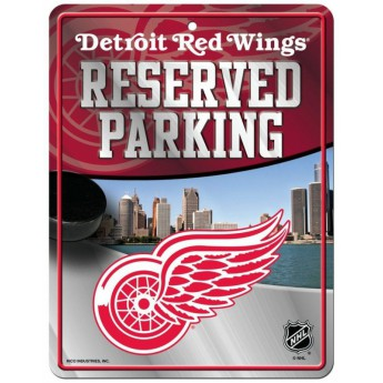 Detroit Red Wings ceduľa na stenu Auto Reserved Parking