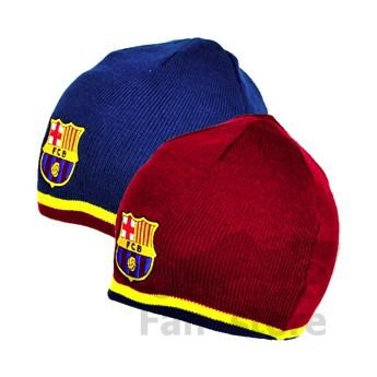 Barcelona zimná čiapka azul y rojo