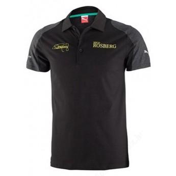 Puma Mercedes AMG Petronas pánske polo tričko Rosberg schwarz