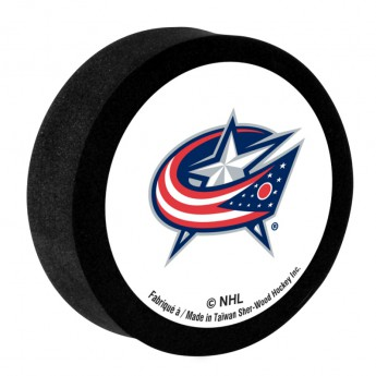 Columbus Blue Jackets Penový puk White Sher-Wood