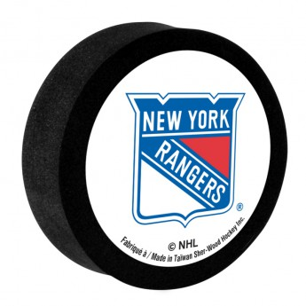 New York Rangers penový puk white Sher-Wood