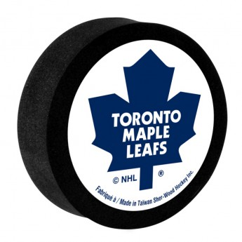 Toronto Maple Leafs Penový puk White Sher-Wood