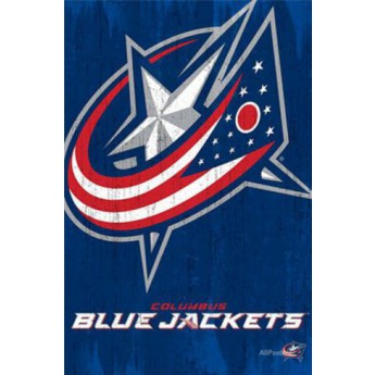 Columbus Blue Jackets NHL Plagát Team Logo Cut