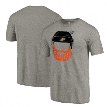 Anaheim Ducks pánske tričko grey 2017 Stanley Cup Playoffs Participant Full Beard Tri-Blend
