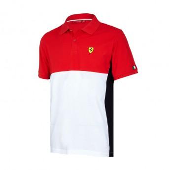Scuderia Ferrari pánske polo tričko Cut and Sew red F1 Team 2017