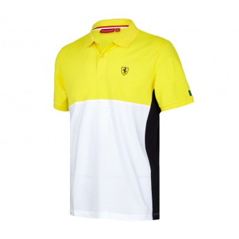 Scuderia Ferrari pánske polo tričko Cut and Sew yellow F1 Team 2017