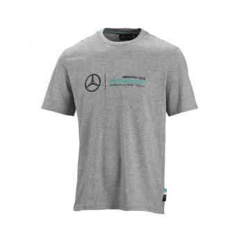 Mercedes AMG Petronas pánske tričko logo grey F1 Team