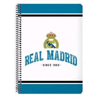 Real Madrid blok zošit A5 whiteblue 1902