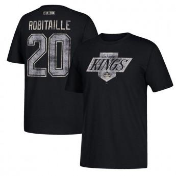 Los Angeles Kings pánske tričko black #20 Luc Robitaille Retired
