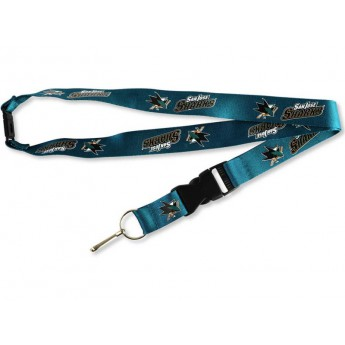 San Jose Sharks kľúčenka na krk Team Lanyard Multicolor