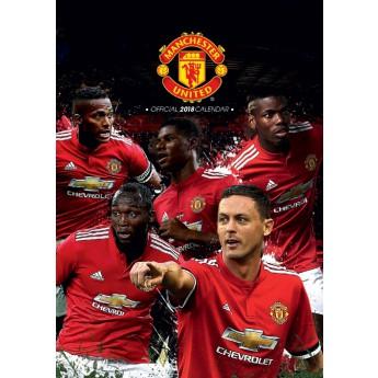 Manchester United kalendár 2018 (29,7 x 42 cm) A3