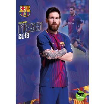 Lionel Messi kalendár 2018 (29 x 42cm) + 12 samolepiek