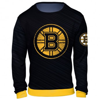 Boston Bruins pánska mikina black NHL Static Rain