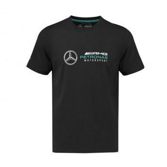 Mercedes AMG Petronas pánske tričko Logo black F1 Team 2018