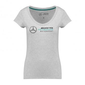 Mercedes AMG Petronas dámske tričko Logo grey F1 Team 2018