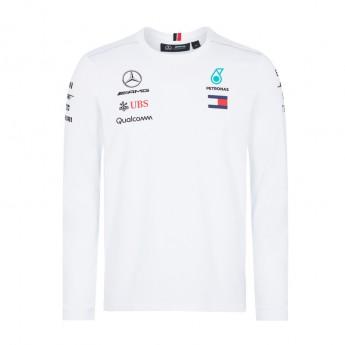 Mercedes AMG Petronas pánske tričko Longsleeve white F1 Team 2018