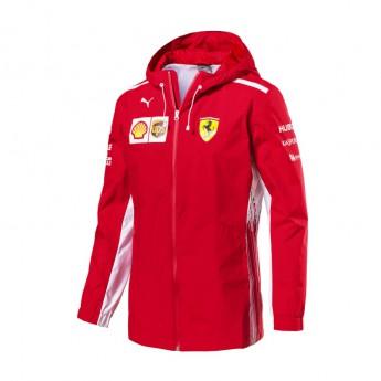 Ferrari pánska bunda s kapucňou Rain red F1 Team 2018