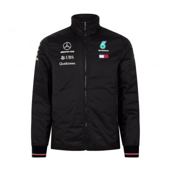 Mercedes AMG Petronas pánska bunda black Padded F1 Team 2018